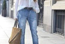 Boyfriend jeans, best fashion and outfits with boyfriend jeans / Best fashion, style and outfits with boyfriend jeans. How to wear boyfriend jeans? Outfits with boyfriend jeans.
