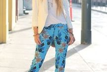 Printed pants, Outfits with printed pants / How to wear printed pants? How to wear prints. Outfits with printed pants.