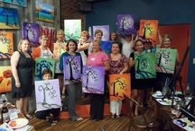 Ladies Nights Out! / Gather together your girlfriends, pick a painting and leave the men and kids at home! We'll bring the aprons and the wine!