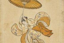 Suzuki Harunobu  /  Nishiki-e ou « estampes de brocart »