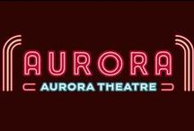 Client Board - The Aurora Theatre / The Aurora Theatre in East Aurora, NY. Branding, logos, website and packaging.