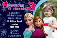 Disney Frozen Birthday Invitations / Disney Frozen Birthday Party Invitations and thank you cards.