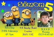 Minions Birthday Party Invitations / Minions Despicable me Birthday Party Invitations and thank you cards