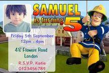 Fireman Sam Birthday Party Invitations / Fireman Sam Birthday Party Invitations