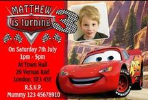 Disney Cars McQueen Lightning Birthday Party Invitations and Thank You cards / Disney Cars McQueen Lightning Birthday Party Invitations and Thank You cards