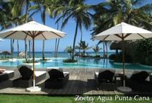 Punta Cana Week - Zoetry Agua Punta Cana / We're wrapping up Punta Cana Week with a huge set of photos from Zoetry Agua Punta Cana! Palm trees, green grass, and a sandy beach are what you'll find at this resort. Take a look!