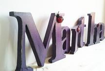 Cijfers & Letters ideeën / Ideeën voor allerlei soorten cijfers en letters in de huislijke sfeer of op kantoor