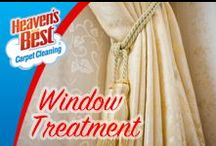 Window Treatments / We arrive at your location in uniform, ready to work. We are courteous professionals whom you will feel comfortable to have in your home or business. Everyone at Heaven's Best is highly trained and committed to delivering 100% customer satisfaction. Give us a call today. You will be glad you did. (435) 586-1172