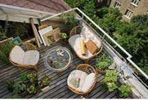 Garden, balcony, terrace