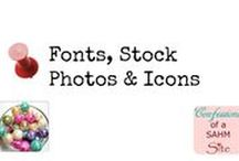 Fonts, Stock Photos & Icons / Resources for fonts, stock photos and icons for your blog/website.