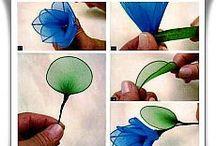 DIY Kwiaty z materiału, faomiran / Zapraszam na moje kursy krok po kroku - rękodzieło, DIY, tutorials, pattern, szydełko, szycie, papier, kursy techniczne, z natury, haft. http://kursykrokpokroku.blogspot.com/