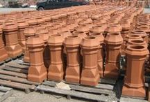 clay chimney pots / Antique and New Chimney Pots