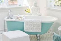 """Bathing Bliss / One of my dreams is to own a cast iron bath tub with claw feet. I love my bath & I would be so over the moon to have such a luxurious, old-fashioned tub to bathe in. Two of my favourite sayings with regards to the solitude & peace that comes with a relaxing bath, """"Peace is a long hot bath"""" & """"When in doubt, take a bath"""". Words to live by, and I literally have them framed on the wall! And of course, """"Life is too short for bad soap""""! That comes from a local shop I support called TVAL :)"""