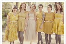 Bridesmaid Lovelies / Samples of various bridesmaids gowns for consideration