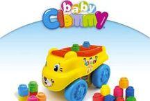 Clemmy / Una linea di mattoncini morbidissimi progettati per far giocare in sicurezza i bambini dai 6 ai 18 mesi