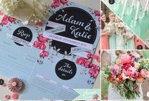 Wedding Themes: Sweet Florals / A sweet mint and pink floral moodboard for vintage inspiration on your wedding day.