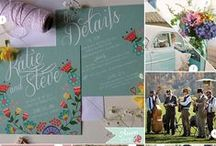 Wedding Themes: Folk Floral Weddings / Folkin Floral weddings is a great inspirational board for those couples looking for a folky feel to their wedding.