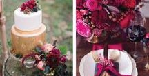 Wedding Colours: Berry Autumnal Weddings / Beautiful deep colours work perfectly for those Autumnal weddings.