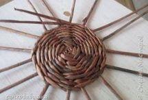 Wiklina, wierzba, wianki, papierowa wiklina DIY / Zapraszam na moje kursy krok po kroku - rękodzieło, DIY, tutorials, pattern, szydełko, szycie, papier, kursy techniczne, kursy plastyczne, quilling, decoupade, haft. http://kursykrokpokroku.blogspot.com/