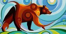 Swirl Spirits Paintings / Acrylic on canvas paintings.