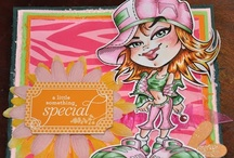 Girl Birthday Cards / Ideas and Inspiration for your Cardmaking needs using Digi images from the one and only KennyK.