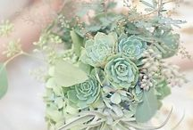Wedding  / White & Bright and Peppermint Green, with splashes of red & gold.