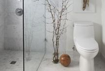 Small Bathroom, Big Impression / A small bathroom doesn't have to mean little design. Make a big impression with your small bathroom with these ideas.