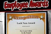 "Funny Employee Awards / Some of the funny certificates featured from ""101 Funny Employee Awards"" by comedian Larry Weaver. Thanks for sharing!"
