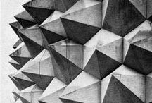 Architecture - brutalism / Architecture, bold concrete buildings, an inspiration for patterns, graphic design