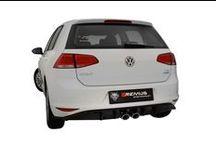 Sportowy tłumik Remus dla Volkswagena Golf VII / Volkswagen Polska Golf VII z tłumikiem tylnym REMUS INNOVATION.  Sportowy tłumik tylny Remus z podwójnymi, centralnymi końcówkami odmieni oblicze Twojego Golfa! Basowy, sportowy dźwięk oraz oryginalny wygląd zdecydowanie wyróżnią ten najpopularniejszy kompakt na drogach. Na zamówienie dostępny również dyfuzor dopasowany do nowych końcówek wydechu!  Tylko w Remus Polska http://www.remus-polska.pl/