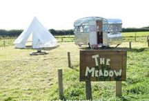 Camp in the meadow