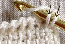 tunus işi. Tığ isi crochet