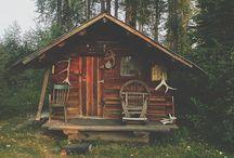 Cabanes/Cabins / Abris/shelters/eco construction/Maisons/Homes/Sheds