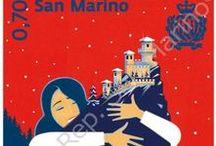Cod. 638: Natale / Valori: n.3 valori da €0,70 – €0,95 – €1,00 in fogli da 12 francobolli. Tiratura: 30.000 serie. Stampa: offset a quattro colori, un Pantone, inchiostro invisibile giallo fluorescente a cura di Cartor Security Printing.  Dentellatura: 13¼ x 13¼. Formato francobolli: 35x35 mm. Bozzettista: Francesco Bongiorni.