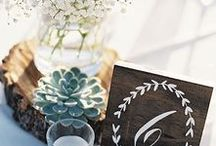 Centerpieces. / Your wedding decor is the perfect way to express your style as a couple. Get inspiration from these wedding centerpiece ideas to see what color palette, style and designs speak to you.