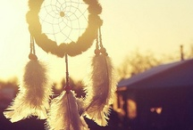 dreamcatcher  / they say it catches bad dreams; only good dreams would be allowed, bad dreams would stay in the net.