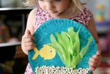 Storytime Crafts / Crafts for kids, many of which we try during our children's programming at the WPL.
