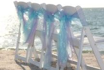 Chairs for a Florida beach wedding / http://www.suncoastweddings.com/ Florida beach wedding packages for couples or hundreds of family and friends. Tailor made ceremonies in your choice of colors and styles.