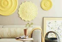 Mellow Yellow Inspiration / Yellow hues in the home and thereabouts