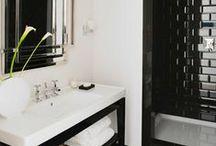 Monochrome Inspiration / Celebrating black & white. A timeless combination. #tiles