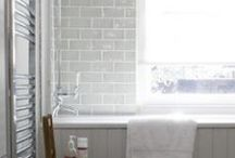 Bathroom Blinds Inspiration / Inspiration for bathroom blinds including some available from The Blind Shop.  All our blinds are made to measure and made in the UK.  We offer a measuring and fitting service in London & Brighton.  Visit theblindshop.com or call 01273 462196 for more information.