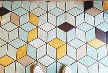 Hexagonal Tiles / The latest trend to hit the tile catwalks: hexagons.