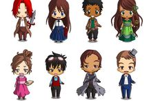 #ChibiJukePop / Using http://www.dolldivine.com/chibi-maker.php, authors on JukePop Serials have been making representations of the main characters in their novels.