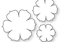 выкройки цветов / выкройки для шелковых и кожаных цветов