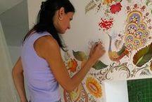 malowane ściany