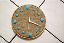 Relógios / Confeccionados em juta e botões