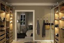Prague apartment - walk in closet