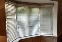 Bay Window Blinds / Inspiration for blinds for bay windows, all supplied and installed by The Blind Shop.  All our blinds are made to measure and made in the UK.  We offer a measuring and fitting service in London &  Brighton. Visit theblindshop.com or call 01273 462196 for more information.