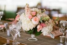 Wedding table flowers / by Grazyna Lilley