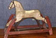 antique toy horses / by Heather Trombley